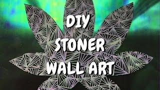 DIY Stoner Home Decor: Weed Leaf Zentangle Wall Art