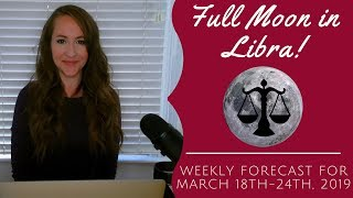 FULL MOON in Libra & Mercury Conjunct Neptune! Weekly Astrology Forecast for ALL 12 SIGNS! thumbnail