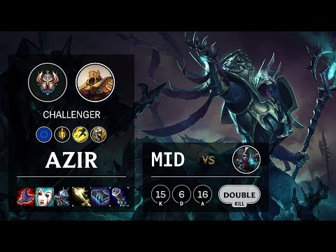 Azir Mid vs Ekko - EUNE Challenger Patch 10.10