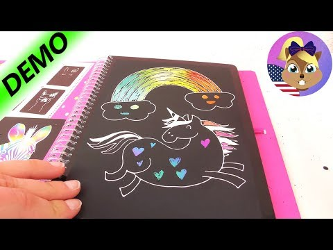 RAINBOW DRAWINGS In Top Model MAGIC SCRATCH BOOK By Depesche! | DIY Colorful Scraper Drawings | Demo