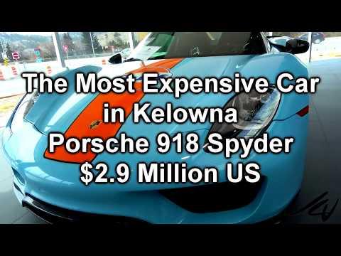 Gulf Porsche 918 Spyder   $2.9 Million US  - Most Expensive New Car in Kelowna  - YouTube