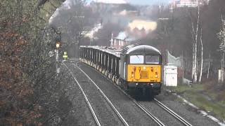 Screaming Grid 56302 Ups the Power at Oakenshaw on 6Z70 Shipley Crossley Evans - Cardiff Tidal