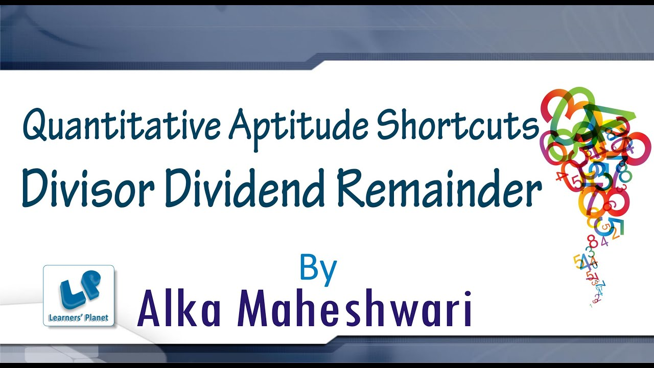 how to find dividend if divisor and remainder is given
