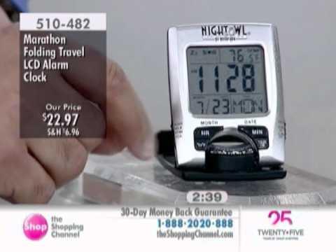 Marathon Folding Travel Alarm Clock At The Shopping Channel 510482