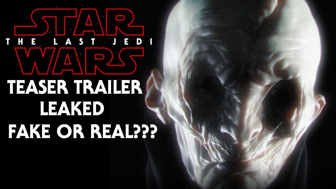 Episode vii trailer leaked celebrity
