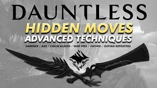 Dauntless: HIDDEN MOVES & ADVANCED TECHNIQUES | Attack Sliding, Cancels, and More