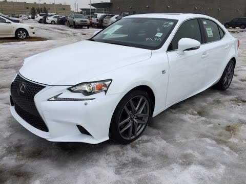 New Ultra White On Red 2015 Lexus Is 350 Awd F Sport Series 3 Review Edmonton Canada Youtube