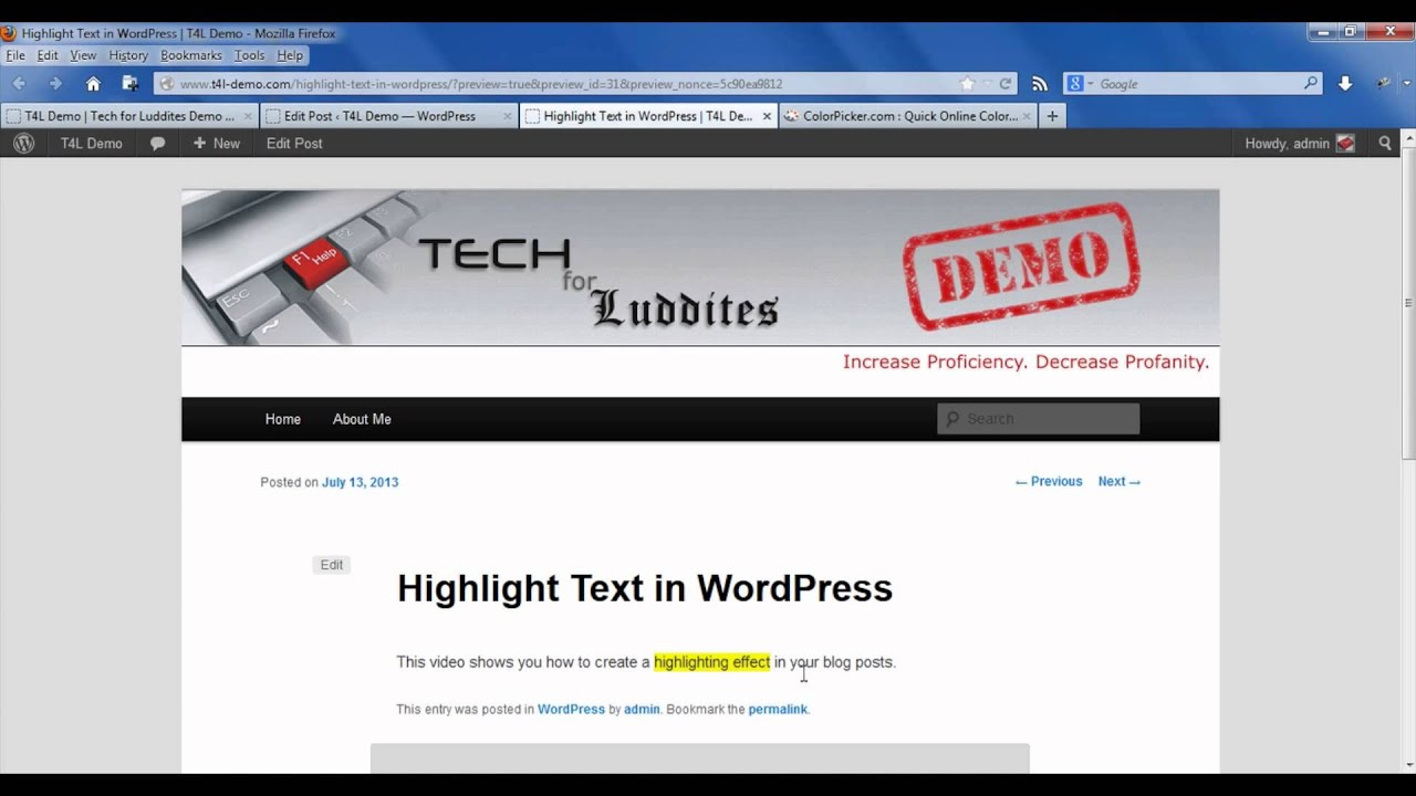 Pages color highlight - How To Highlight Text On Wordpress Wordpress Beyond The Basics