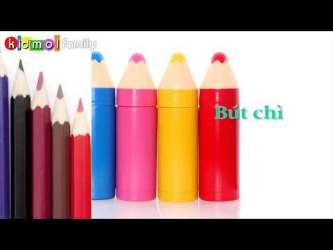 Learning Vietnamese - THINGS - Dạy bé học tên các đồ vật - Kidmolfamily