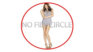 How To Make A No Fill Circle Using Photoshop CC (Easy and Fast) Perfect Circle