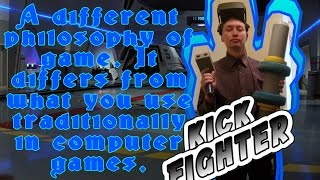 Leg manipulator kickfighter for games and virtual reality