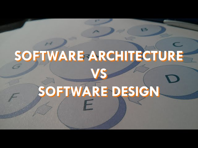 Difference Between Software Architecture And Software Design Scott Duffy Youtube