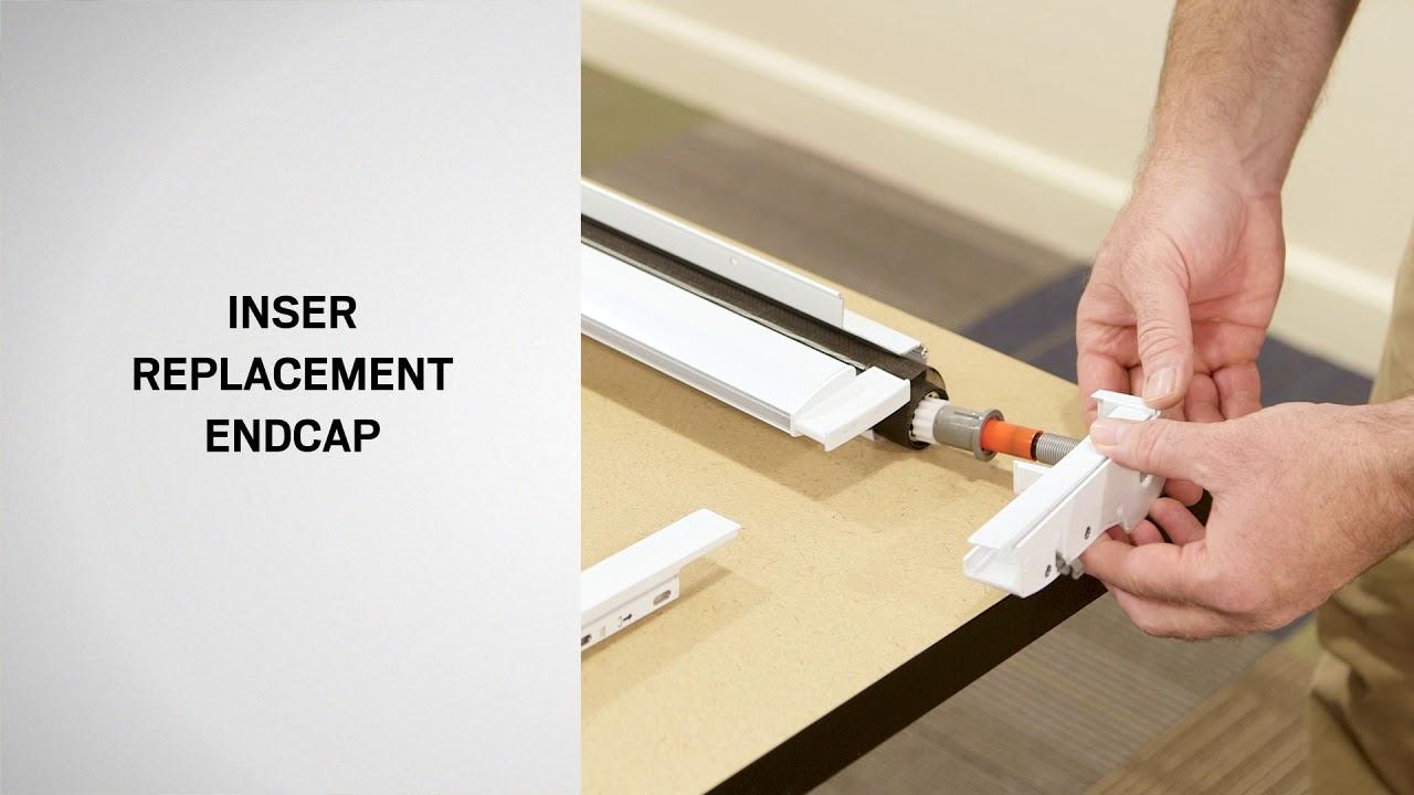 Replacing Damper Endcaps On A Retractable Screen Door Andersen Windows