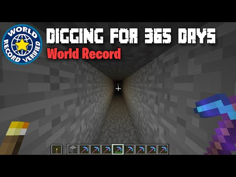 Digging In A Straight Line For 1 YEAR (World Record)