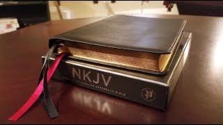 Thomas Nelson Premier Collection NKJV Large Print Thinline Ref Bible in Black Goatskin - Review screenshot 2