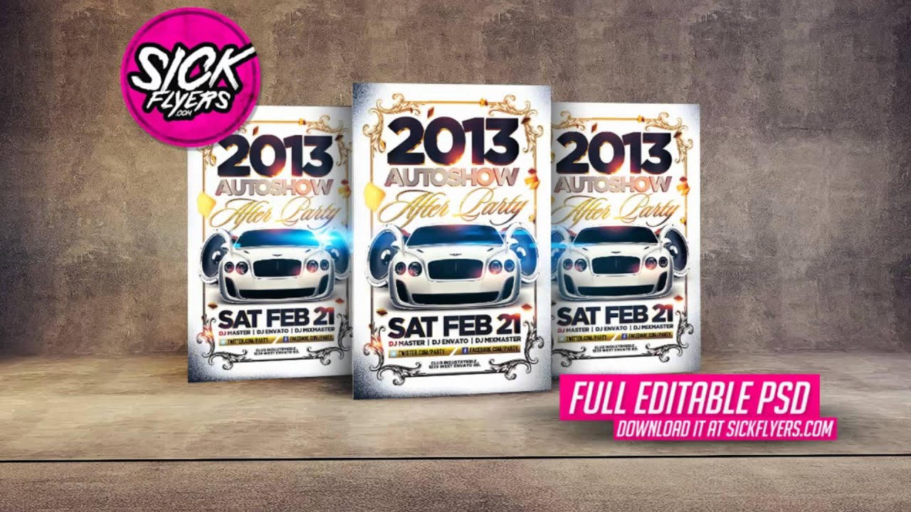 Auto Show Flyer PSD YouTube - Sales flyer template photoshop