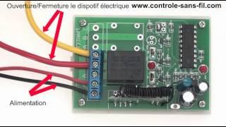 Kit Émetteur Récepteur Radio - Contrôleur de Moteur 9V 12V 24V CC 1 Canal - 3 Modes de Contrôle