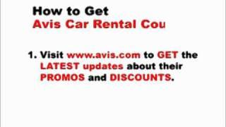 How To Get Avis Car Rental Coupons