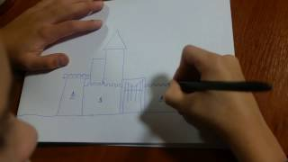 Как нарисовать замок? how to draw a castle?(, 2017-01-03T12:56:33.000Z)