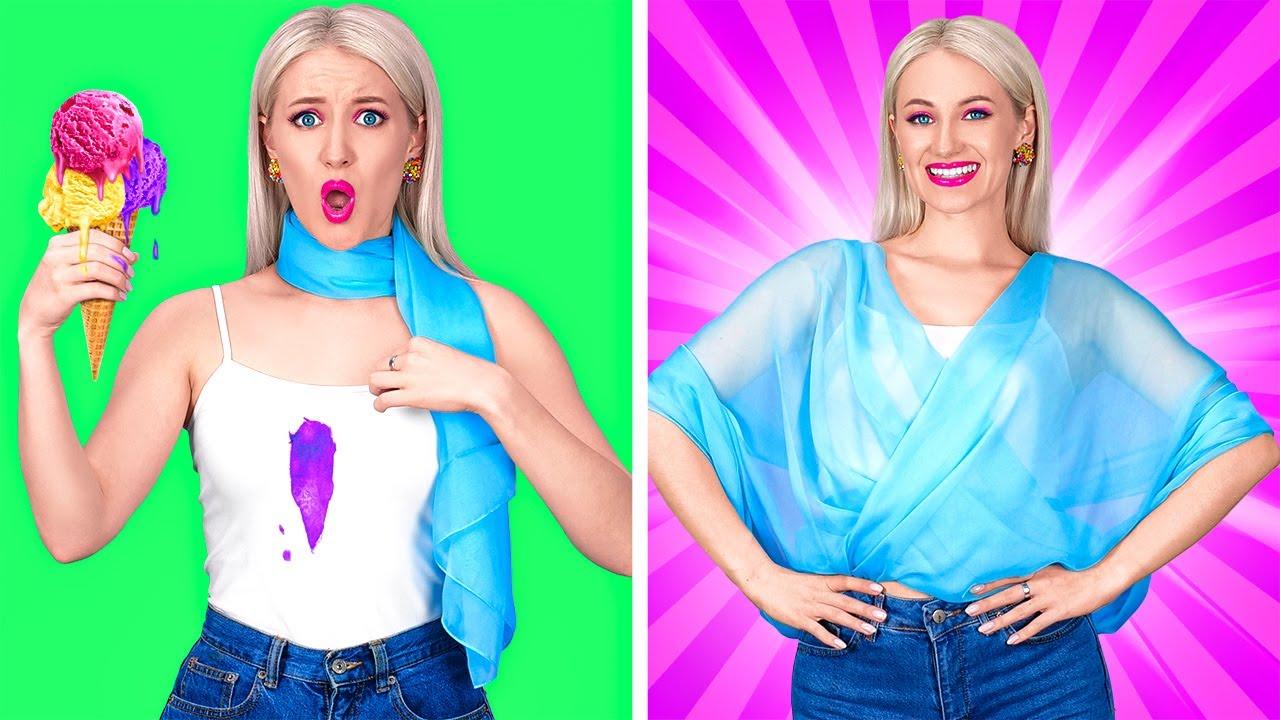 MÜTHİŞ GİYSİ TÜYOLARI || 123 GO! Kolay Giysi Tüyoları Ve Kendin Yap Tarzı Komik El İşleri