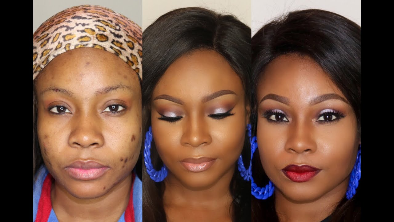 Covering Acne Scars To Full Face Glam Makeup Tutorial
