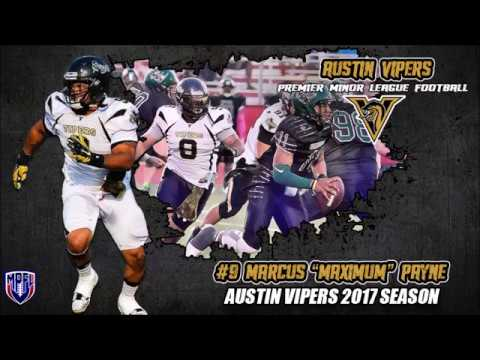 Marcus Payne 2017 Austin Vipers Season