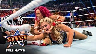 FULL MATCH - Sasha Banks vs. Charlotte Flair - WWE Women&#39s Title Match: SummerSlam 2016