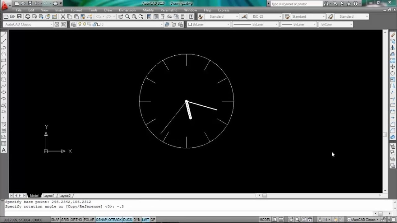 How to do Animation in Autocad (Wall clock animation) | AutoCAD Script