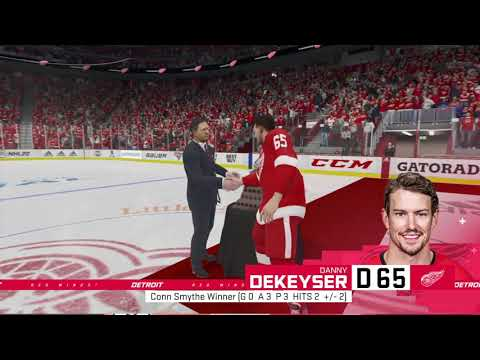 NHL 20 Detroit Red Wings Stanley Cup Winning Animation