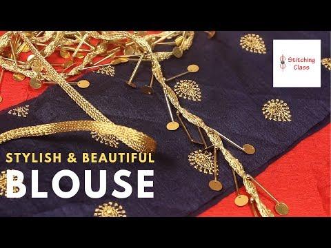 blouse-design,-पार्टी-wear-कैसे-बनाये-स्टाइलिश-beautiful-back-neck-designs-ब्लाउज-cutting-stitching