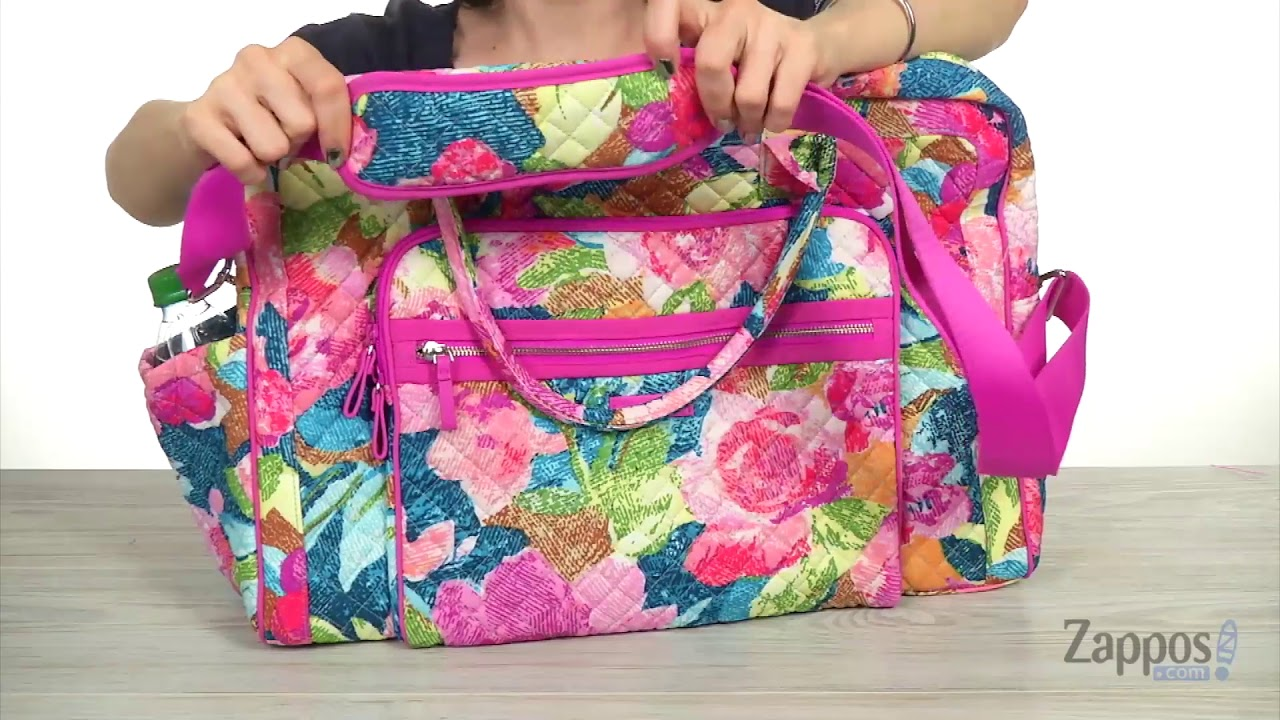 Vera Bradley Iconic Weekender Travel Bag SKU  9081808 - YouTube dc44297188170