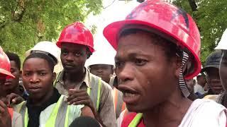 Wafanyakazi wa CRJE wagoma | Wamtaka mkuu wa wilaya awasaidie