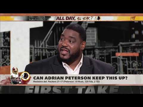 Adrian Peterson defies age during big win over Packers   First Take   ESPN