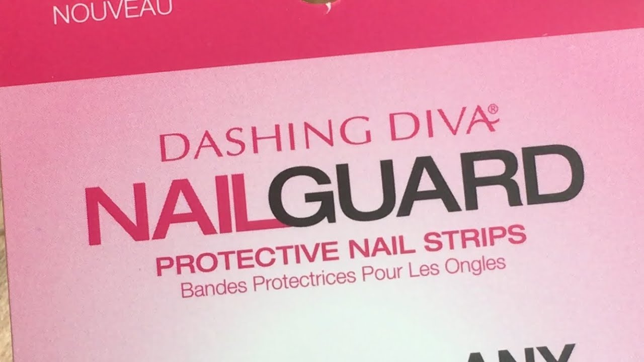Using gel polish on the Dashing Diva Nail Guards - YouTube