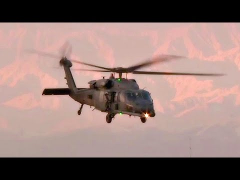 USAF Pararescue - HH-60s Takeoff From Bagram Airfield