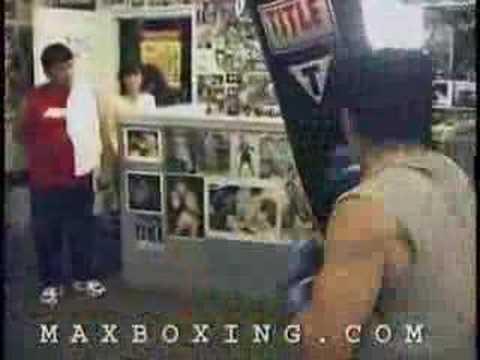 Manny Pacquiao vs. heavy bag