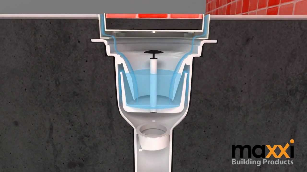 การวางท่อระบายน้ำ / Maxxi Floor Drain V Series Installation Without  Waterproofing Membrane   YouTube