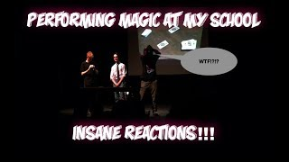 I Performed A Card Trick At My High School. CRAZY REACTIONS!!