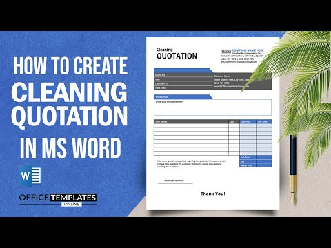How to Design Cleaning Quotation in MS Word   Cleaning Quote Example