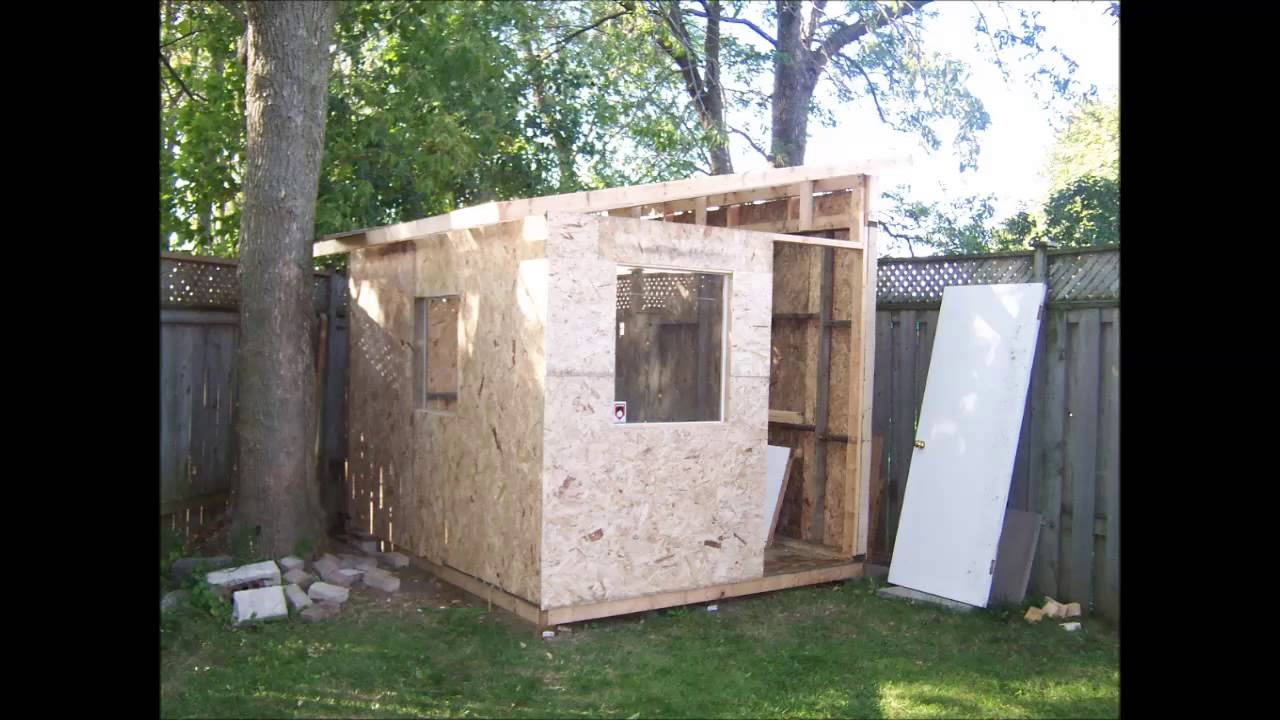 Home Made Lean To Shed And Fireplace Youtube