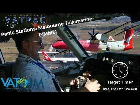 Vatpac Panic Stations: Melbourne. Pink Qantaslink Q400 on Vatsim.