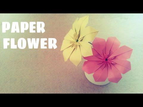 DIY - Cách gấp hoa bằng giấy đơn giản dễ làm