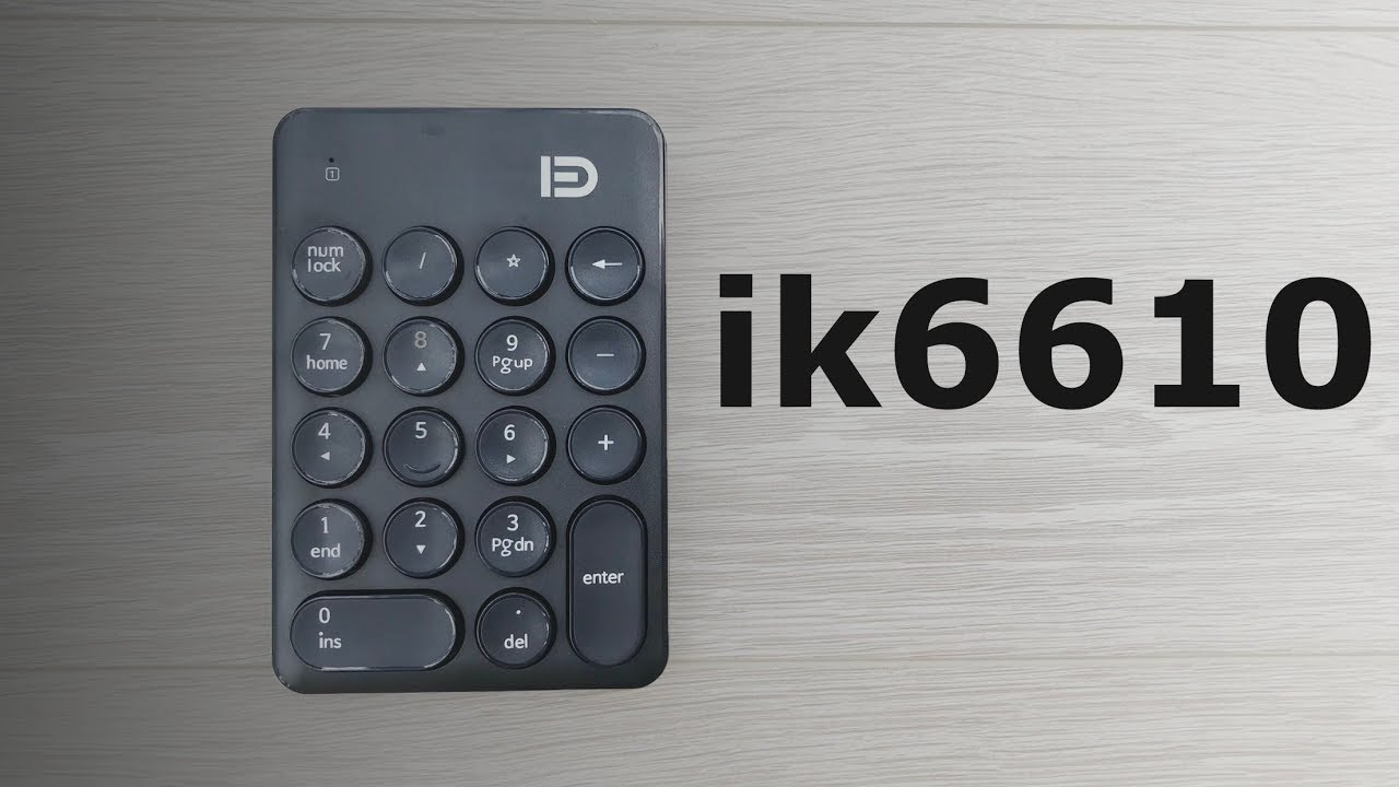 Bàn phím số không dây Forter ik6610 – đen