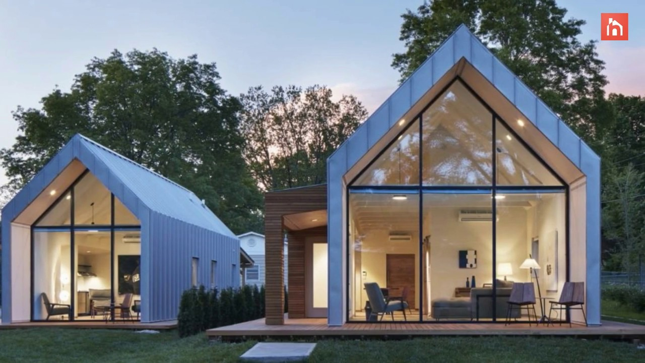 A Set Of Modern A Frame Houses With Super Sustainable Designs Youtube