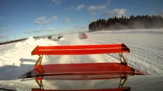 Is-SM Morjärv 2015 Håkan Johansson tappar framhjulet