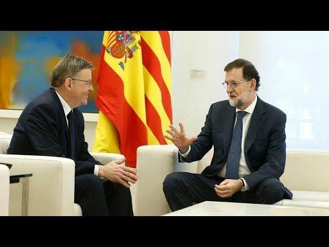 Rajoy recibe al presidente de la Generalitat Valenciana