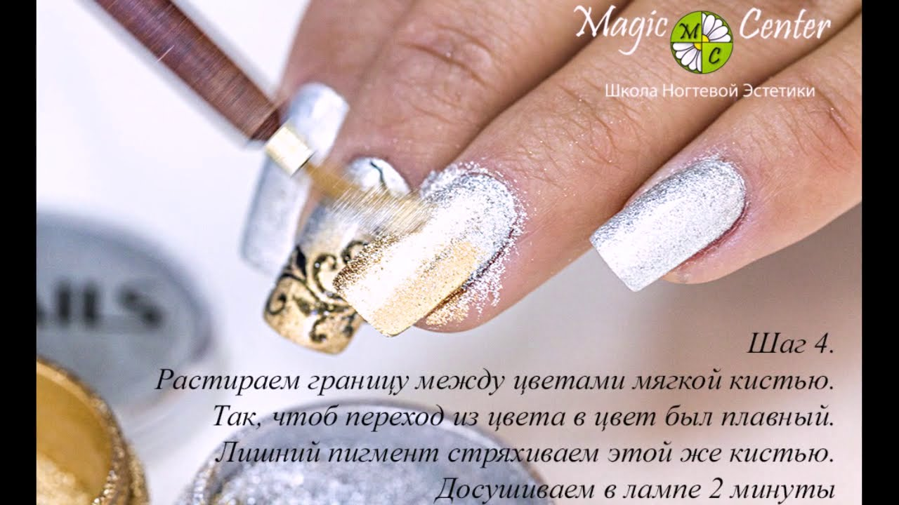 Пигмент для дизайна ногтей как использовать
