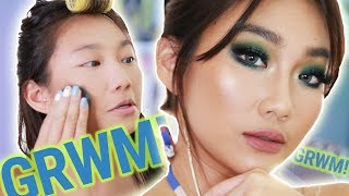 GET READY WITH ME: Aqua Blue Eyes aka LUMOT Eyeshadow LOL!  | Raiza Contawi