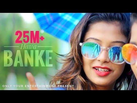Download Hawa Banke | Darshan Raval |  Cute love Story | new hindi song 2019 | cover Hrittick & Ariyoshi