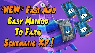 UNLIMITED SCHEMATIC XP METHOD IN Fortnite - Fortnite Save The World